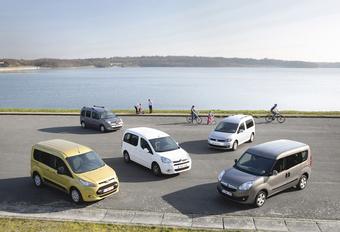 Citroën Berlingo 1.6 HDi 90, Ford Transit Tourneo Connect 1.6 TDCi 95, Opel Combo 1.6 CDTI 90, Renault Kangoo 1.5 dCi 90 et Volkswagen Caddy 1.6 TDI 102 : Les bons à tout faire #1