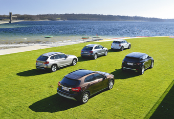 Audi Q3 2.0 TDI, BMW X1 18d sDrive, Mercedes GLA 200 CDI, Range Rover Evoque ED4 en Mini Countryman SD : Booming business #1
