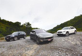 BMW X5 xDRIVE30d • INFINITI FX30d • PORSCHE CAYENNE DIESEL : Trillen en beven #1