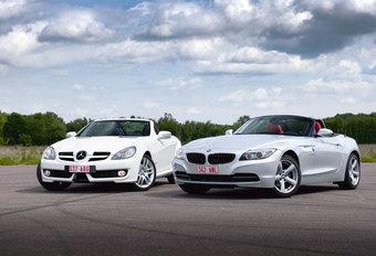BMW Z4 sDRIVE23i • MERCEDES SLK 200 K : Toenadering #1
