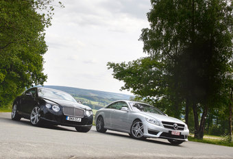 BENTLEY CONTINENTAL GT • MERCEDES CL 63 AMG (PERFORMANCE PACKAGE) : Engeland-Duitsland #1