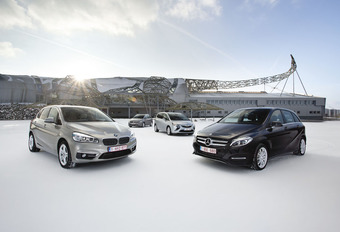 BMW 2-Reeks Active Tourer, Mercedes B-Klasse, Opel Zafira en Volkswagen Golf Sportsvan : Hetzelfde maar dan anders #1