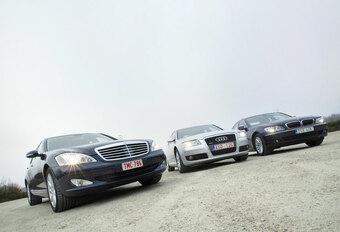 Audi A8 3.2 FSI • BMW 730i • Mercedes S 350 : Machtsstrijd #1