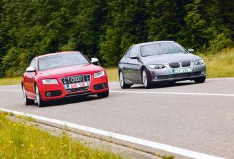 AUDI S5 • BMW 335i : Bikkelharde confrontatie #1