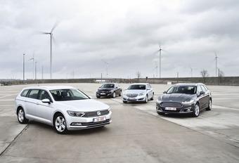 Ford Mondeo Clipper 2.0 TDCi 150, Peugeot 508 SW 2.0 BlueHDi 150, Opel Insignia Sports Tourer 2.0 CDTI ecoFLEX en Volkswagen Passat Variant 2.0 TDI 150 : Duits of Frans?  #1