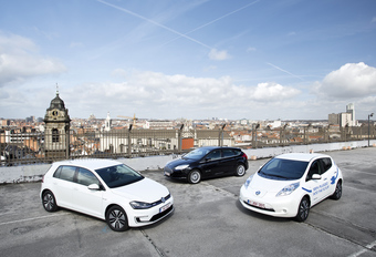 Ford Focus Electric, Nissan Leaf en Volkswagen e-Golf #1
