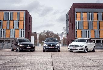 BMW 218D ACTIVE TOURER // MERCEDES B 220 CDI // VOLKSWAGEN GOLF 2.0 TDI SPORTSVAN : Heilige huisjes #1