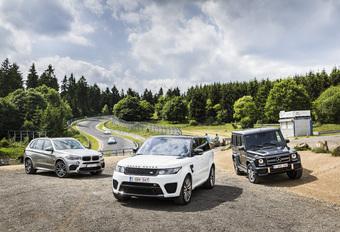 BMW X5 M, Range Rover SVR en Mercedes-AMG G63 : Imagobouwers #1