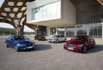 BMW 320d, Infiniti Q50 2.2d, Jaguar XE 2.0D 180 en Mercedes C220 BlueTec #1