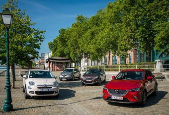 Fiat 500X 1.6 MJet 115, Mazda CX-3 SkyActiv-D 105, Peugeot 2008 1.6 HDi 115 et Renault Captur 1.5 dCi 110 #1