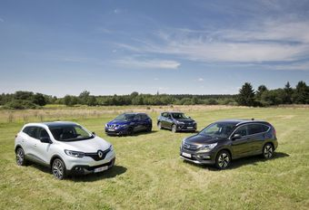 Honda CR-V 1.6 i-DTEC 120, Nissan Qashqai 1.6 dCi 130, Renault Kadjar 1.6 dCi 130 en Toyota RAV 4 2.0 D-4D #1