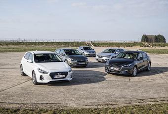 Hyundai i30 tegen 4 concurrenten #1