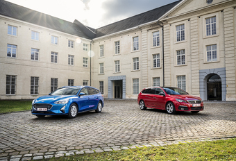 Ford Focus Clipper vs Peugeot 308 SW #1