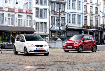 Smart EQ Fortwo vs Seat Mii Electric : Elektrische stadsauto's #1