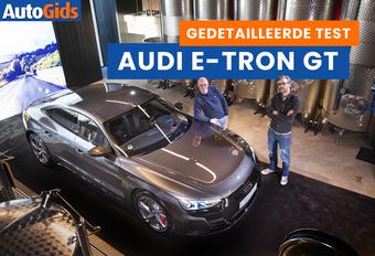 AutoGids test de elektrische Audi E-tron GT. Bekijk de video!