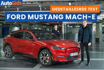 AutoGids test de 2021 Ford Mustang Mach-E. Bekijk onze video review van de elektrische SUV met een legendarische naam.
