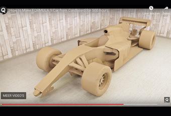 Wie niet weet hoe hij de periode tussen het slot van het vorige en het begin van het nieuwe Formule 1-seizoen moet overbruggen, kan deze bijzonder geslaagde F1-bolide uit karton proberen maken.