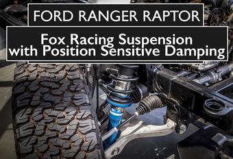 De Ford Ranger Raptor krijgt een speciale off-roadophanging met PSD-dempers van Fox Racing. Hoe werkt die zogeheten Position Sensitive Damping, eigenlijk? Bekijk de video!