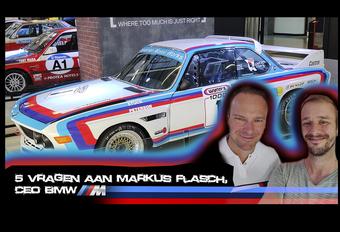 Tijdens het BMW M Festival in Zuid-Afrika, georganiseerd op het voormalige F1-circuit van Kyalami, kon onze Klaas Janssens CEO Markus Flasch vragen naar zijn persoonlijke auto, zijn favoriete BMW M-model, de productieversie van de M Vision Next en naar de nieuwe M3 en M4. Bekijk de video!