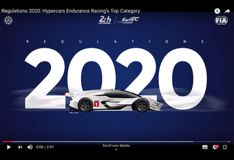 Het Wereldkampioenschap Endurance gaat voor een nieuwe formule, waarvan de regels in september 2020 van kracht worden. Een overzicht van die nieuwe hypersportklasse.