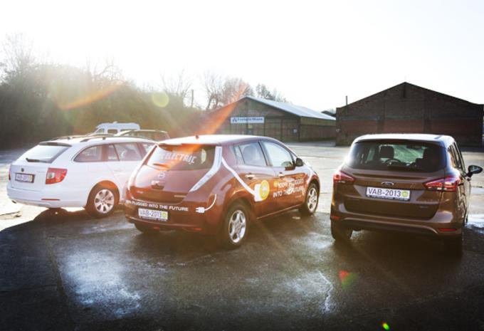VAB-GEZINSWAGENS VAN 2013: Ford B-Max, Skoda Superb Combi & Nissan leaf  #1