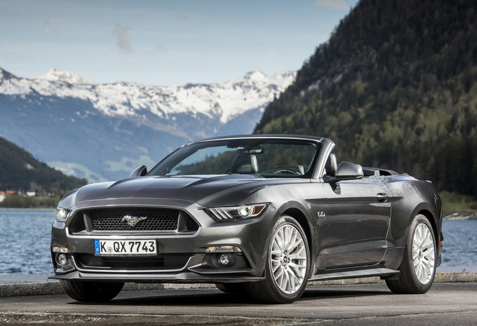 prijs ford mustang cabrio v8 gt 2018 autogids. Black Bedroom Furniture Sets. Home Design Ideas