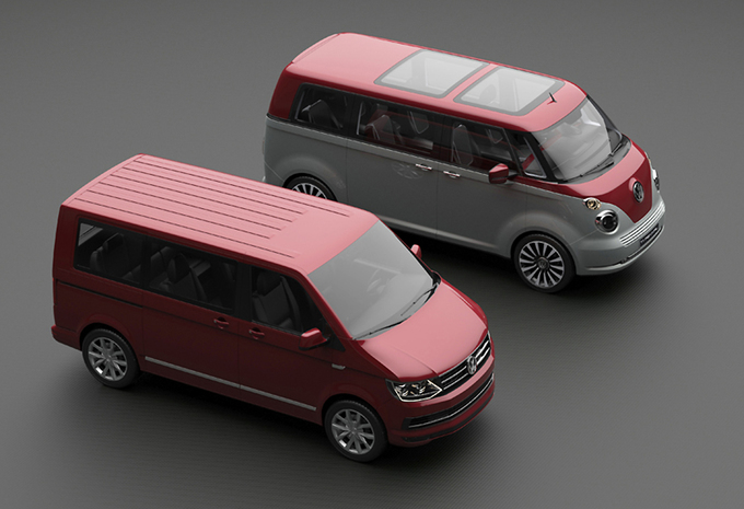 volkswagen t1 revival t6 hippie moniteur automobile. Black Bedroom Furniture Sets. Home Design Ideas