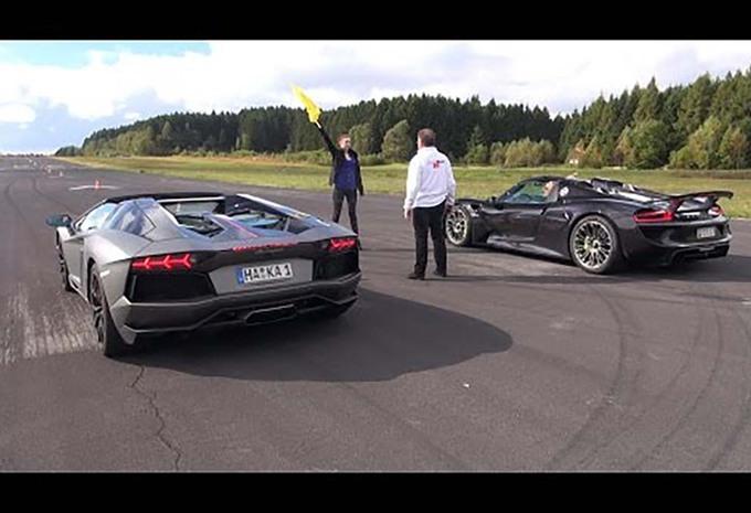 Lamborghini Aventador vs Porsche 918 Spyder : presqu'une leçon #1