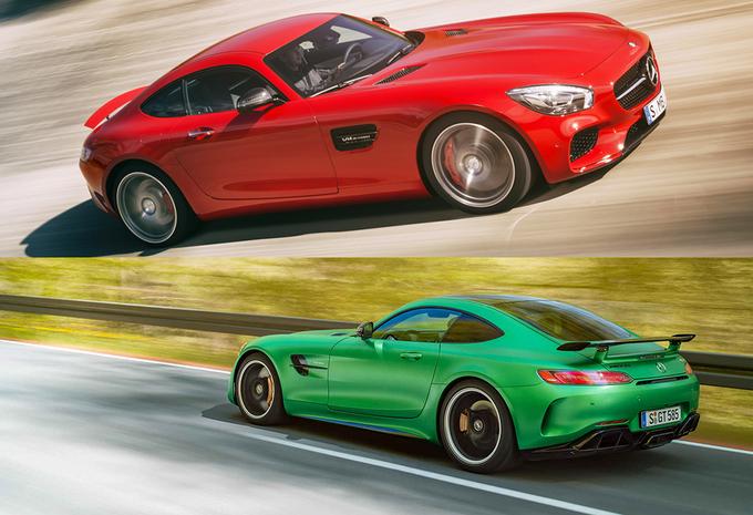 Zoek de verschillen tussen de Mercedes-AMG GT S en GT R #1
