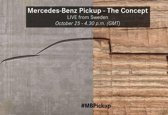 Le pick-up Mercedes s'avance en concept #1