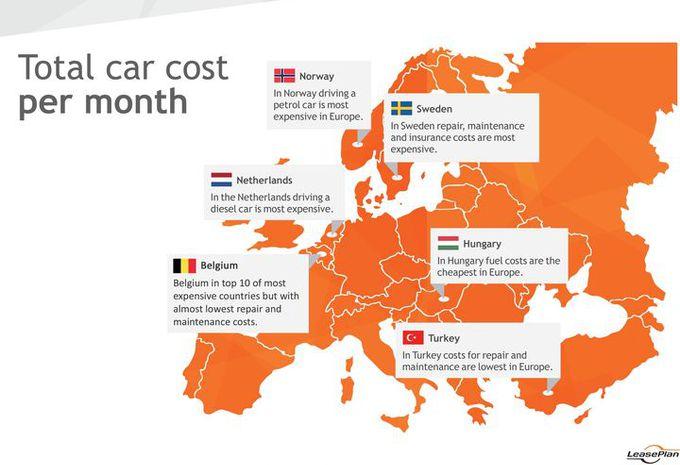 belgique dans le top 10 des pays les plus chers - moniteur automobile