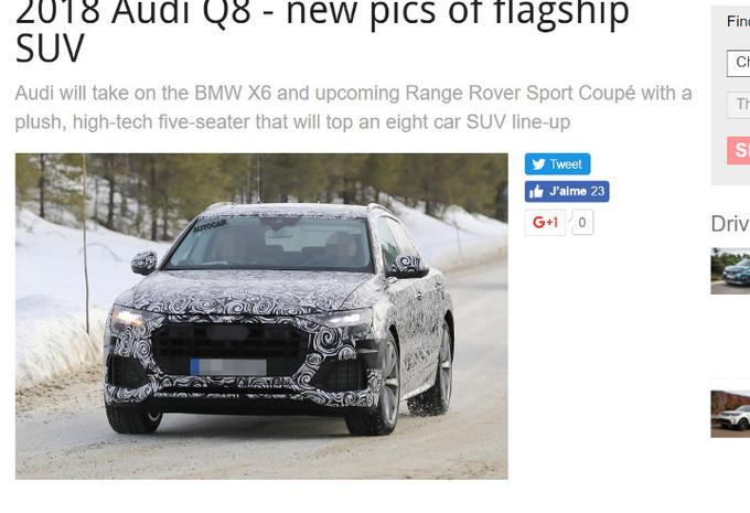 Audi : premiers tours de roues pour le Q8  #1