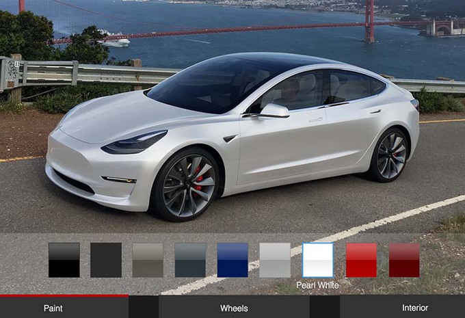 tesla model 3 voor dollar reken eerder op autogids. Black Bedroom Furniture Sets. Home Design Ideas