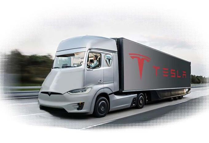 tesla un camion lectrique en septembre moniteur automobile. Black Bedroom Furniture Sets. Home Design Ideas