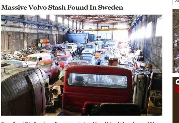 Plein de vieilles volvo dans un entrep t en su de moniteur automobile - Acheter une usine desaffectee ...