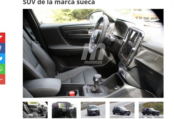Volvo xc40 tout de la grande moniteur automobile for Interieur xc40
