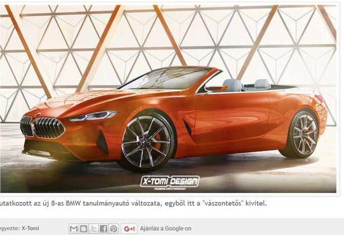 BMW Série 8 Cabrio : vue d'artiste #1