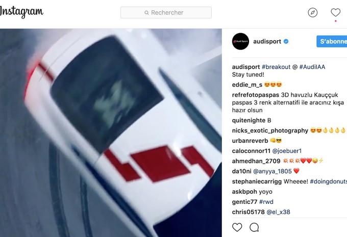 Audi R8 V10 RWS : premières photos officielles de la R8 propulsion