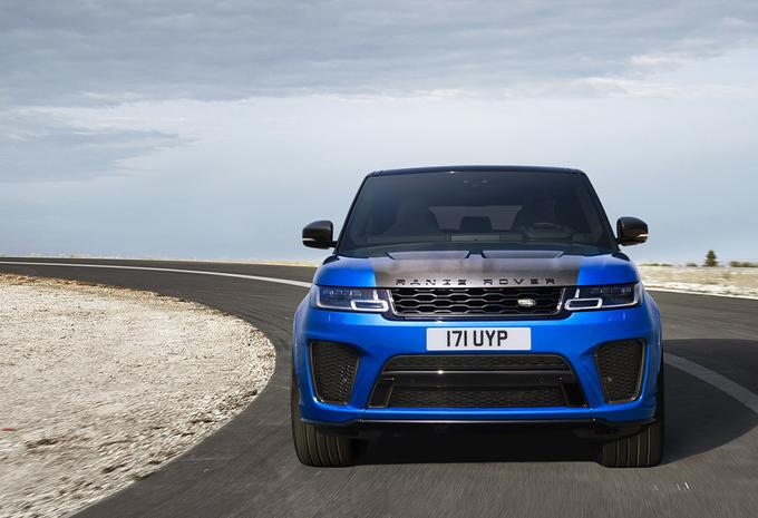meer power voor de vernieuwde range rover sport svr autowereld. Black Bedroom Furniture Sets. Home Design Ideas