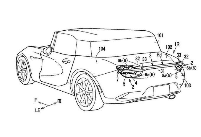 Mazda dépose un nouveau brevet d'aileron rétractable #1