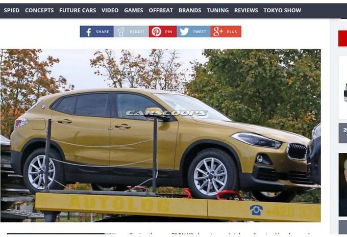 BMW : voici le X2, tout nu ! #1