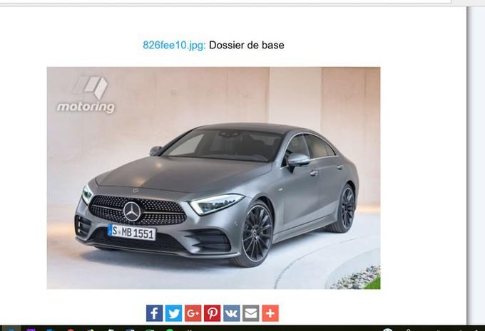 Mercedes CLS : image en fuite #1