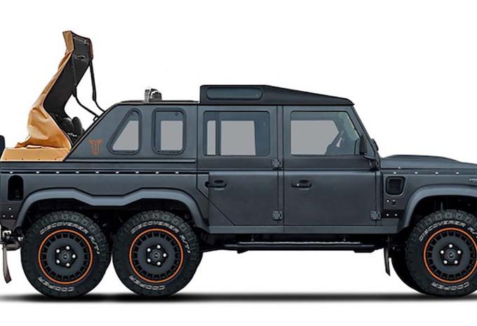 photos khan design un defender 6 roues moniteur automobile. Black Bedroom Furniture Sets. Home Design Ideas