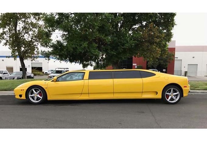 insolite une ferrari 360 modena limousine vendre. Black Bedroom Furniture Sets. Home Design Ideas