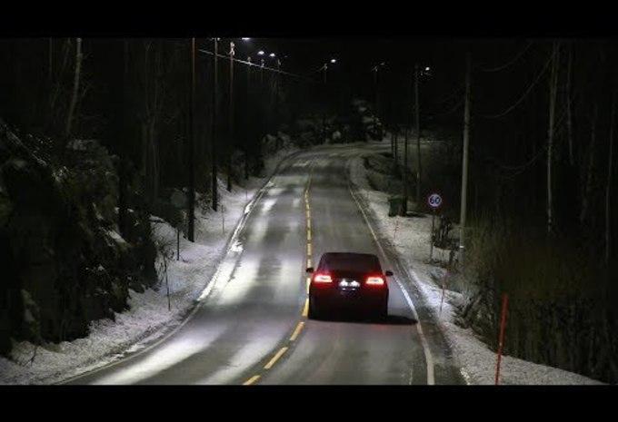 Dynamische straatverlichting in Noorwegen #1