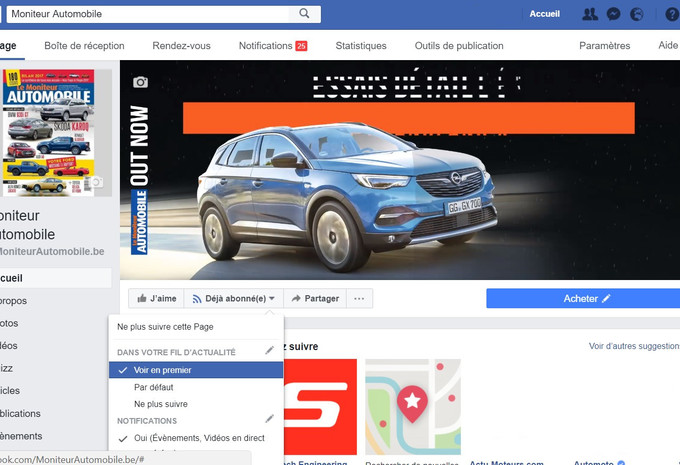 Pour continuer à voir nos articles sur votre mur Facebook #1