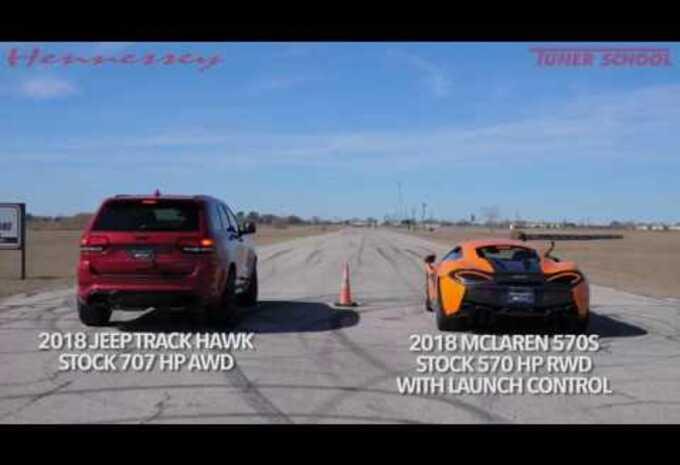 Course entre une McLaren et une Jeep #1