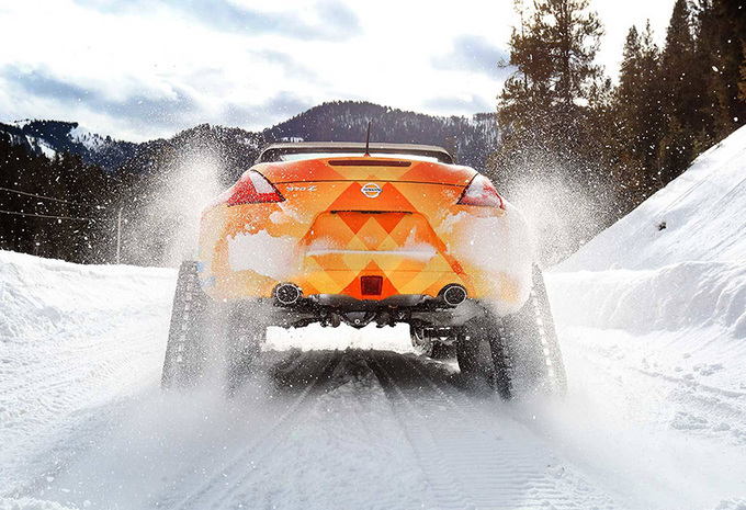 Natuurlijk kan je op skivakantie met een Nissan 370Z Cabrio #1