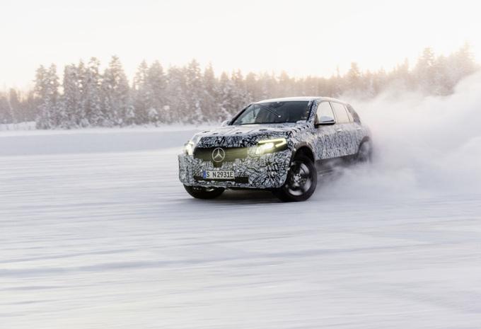 Mercedes EQC en test sur la glace #1