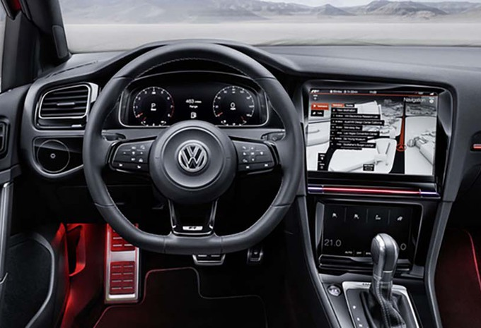 volkswagen golf 8 l int rieur de la r touch concept moniteur automobile. Black Bedroom Furniture Sets. Home Design Ideas